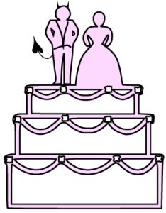 Clipart Wedding Cake: I saw Goody Proctor with the devil... on the blancmange.