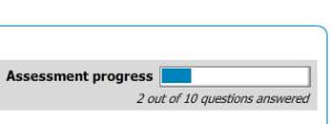 Blue squares appear, thus building the progress meter